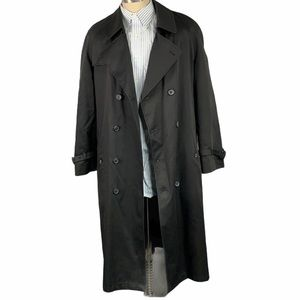 Stafford Black Removable Lined Trench Coat Belted